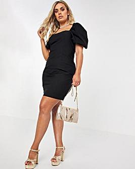 Black Superstretch Bodycon Dress