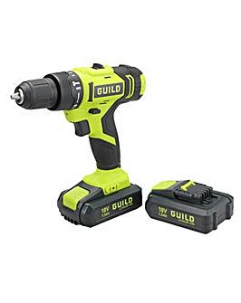 Guild 1.5Ah Combi Drill 2 Batteries & 100 Accessories - 18V