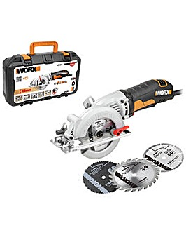WORX Saw XL WX429 120mm 400w + Blades