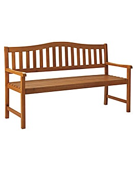 Henrietta Wooden 3 Seater Bench