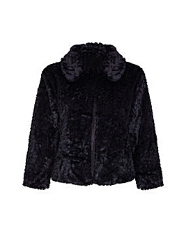 Mela London Curve Faux Fur Jacket