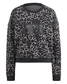 adidas Sportswear Leopard-Print Sweatshirt