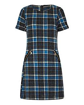 Yumi Curves Check Tunic Dresst
