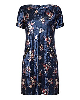 Yumi Curves Velvet Tunic Dress