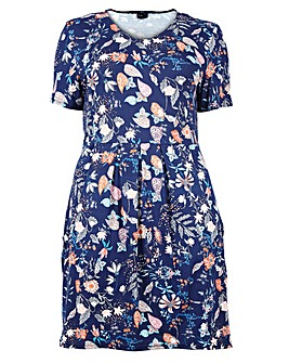 Izabel London Curve Plus Size Floral Pri