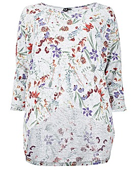 Izabel London Curve Floral Printed Top