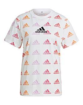 adidas Essentials Boyfriend Gradient Logo T-Shirt
