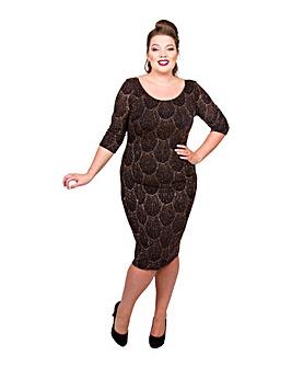 Scarlett & Jo Art Deco Lurex Dress