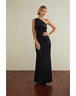 Gina Bacconi Novella One Shoulder Dress