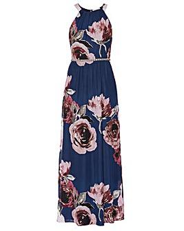 Gina Bacconi Avis Floral Chiffon Dress