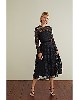 Gina Bacconi Lolita Applique Lace Dress