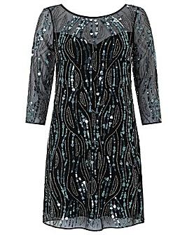 Monsoon Heera Heart Sequin Tunic Dress