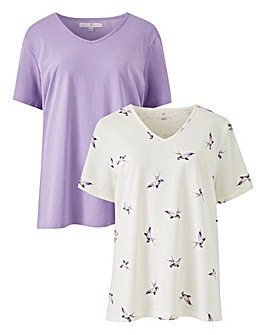 Pack of 2 V-Neck Jersey T Shirts