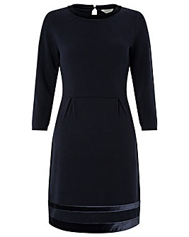 Monsoon Estella Velvet Trim Smart Dress