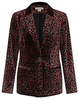 Monsoon Cora Printed Velvet Jacket