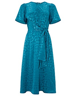 Monsoon Joenie Jacquard Wrap Dress