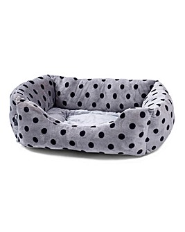 Petface Grey Sqaure Bed