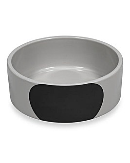 Petface Chalk Ceramic Dog Bowl 2 Pack