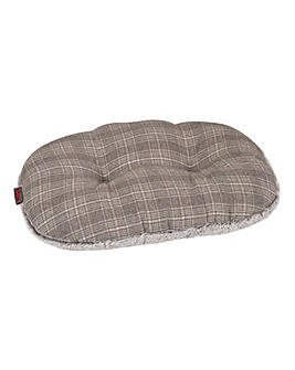 Zoon Grey Check Oval Cushions