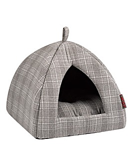 Zoon Grey Check Cat Igloo