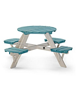 Plum Circular Picnic Table - Teal