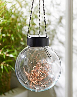 Hanging Glass Ball with Fine Wire