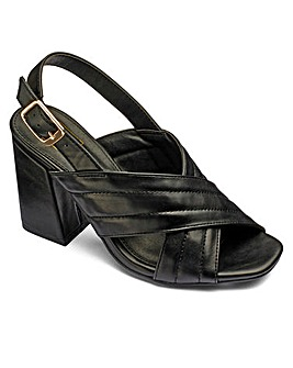 Sole Diva Crossover Sandals Wide E Fit