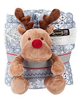 Santa Paws Blanket & Reindeer Set
