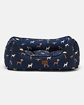 Joules Dog Print Box Bed - Small