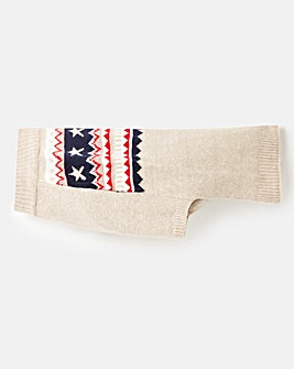 Joules Fairisle Dog Jumper - Small