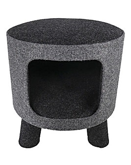 Rosewood Felt Cat Stool