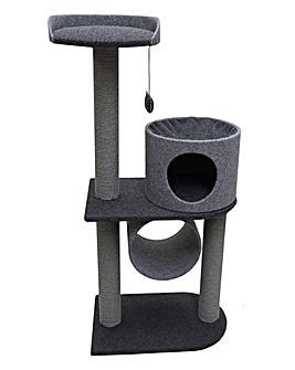 Rosewood Felt Double Cat Tower