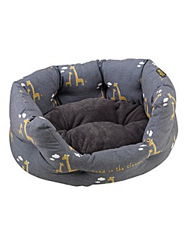 Zoon Head in the Clouds Oval Pet Bed