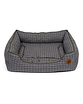 Petface Moss Green Square Bed
