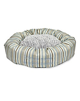 Petface Sandpiper Stripe Round Bed