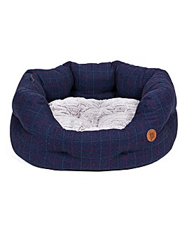 Petface Midnight Tweed Oval Bed