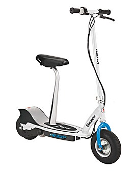 Razor E300S White & Blue Electric Scoot