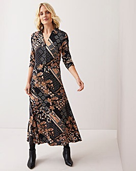 Julipa Stretch Print Shirt Dress