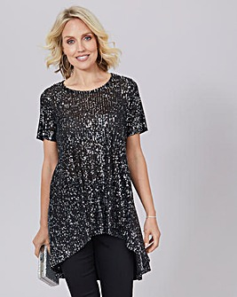 Julipa Sequin Tunic With Back Detail