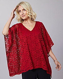 Julipa Lace Kimono Sleeve Tunic