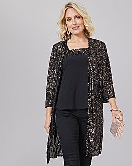 Julipa Sequin Cardigan And Cami 2 Piece