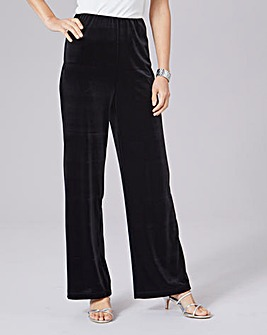 Julipa Stretch Velour Trousers Regular