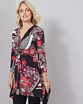 Julipa Print Ring Detail Stretch Tunic
