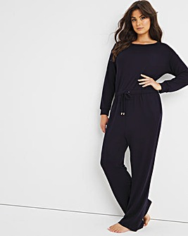 Figleaves Soft Touch Round Neck Wide Leg Jumpsuit