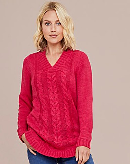 Julipa Cable V Neck Jumper