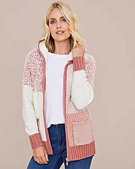 Julipa Patchwork Cardigan With Hood