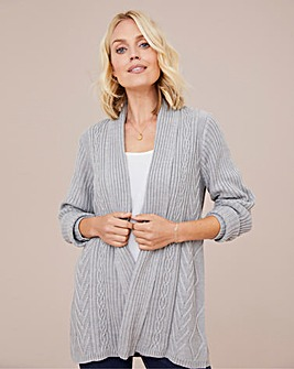 Julipa Longline Cable Cardigan
