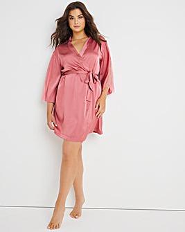 Figleaves Bella Satin Lace Robe