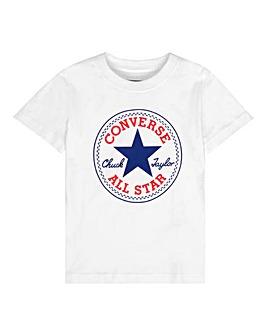 Converse Boys White Chuck Patch T-Shirt
