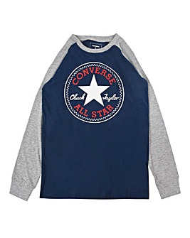 Converse Boys Chuck Patch Raglan T-Shirt
